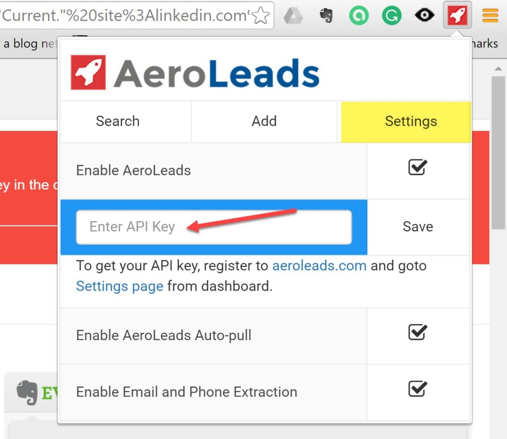 aeroleads api key-min