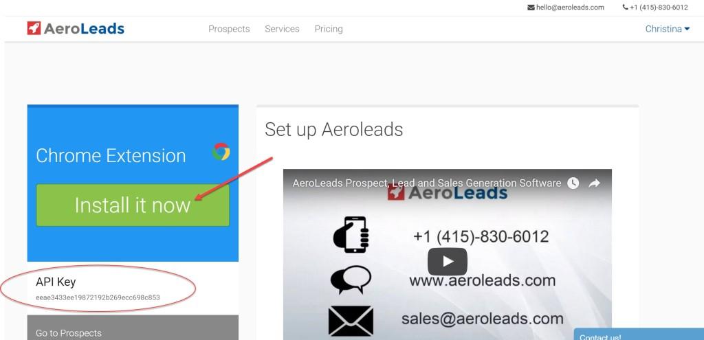 install aeroleads